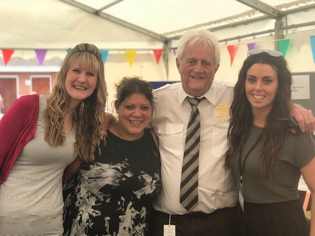 Barry Dye with Caroline, Lisa and Megan of ACT